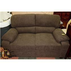 "NEW GREY/BROWN FABRIC 58"" LOVESEAT"
