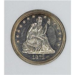 1871 SEATED QUARTER