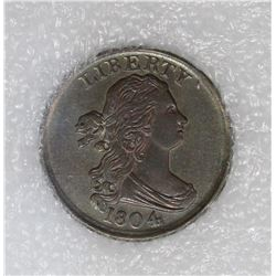 1804 HALF CENT PL.4 NO STEMS