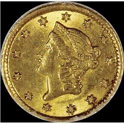 1853-O $1.00 GOLD LIBERTY