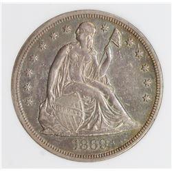 1869 SEATED DOLLAR