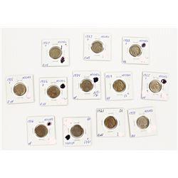 12 COINS--BUFFALO NICKEL LOT