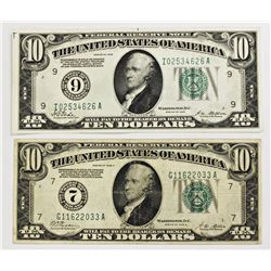 TWO $10.00 FEDERAL RESERVE NOTES