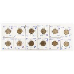 BUFFALO  NICKEL LOT: 12 COINS TOTAL