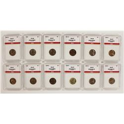 JEFFERSON NICKEL LOT: 12 COINS TOTAL