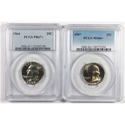 TWO PROOF WASHINGTON QUARTERS: