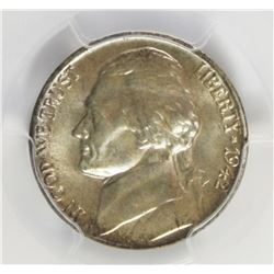 1942-P JEFFERSON NICKEL TYPE 2 SILVER
