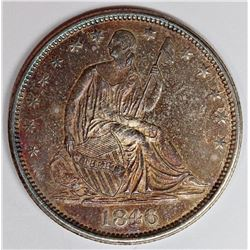 1846-O SEATED HALF DOLLAR