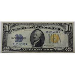 1934 $10.00 SILVER CERTIFICATE