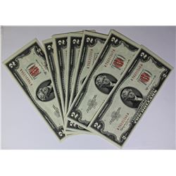 11 PCS 1953 C $2.00 NOTES
