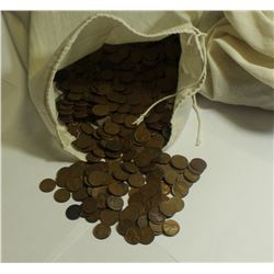 BAG OF 5000 COUNT WHEAT CENTS; 1958 AND OLDER