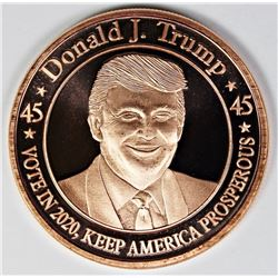 40 PCS. DONALD TRUMP COPPER ROUNDS