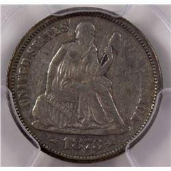 1873 ARROWS DIME