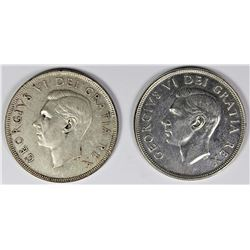 1951 AND 1952 CANADA DOLLARS