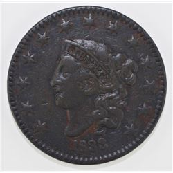 1833 LARGE CENT XF