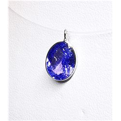 14K FLOATING TANZANITE(1.9CT)  INVISIBLE  NECKLACE