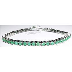 SILVER NATURAL EMERALD(5.1CT) (11.36GM) BRACELET