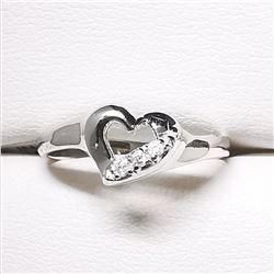 10K DIAMOND (0.05CT) HEART SHAPED RING