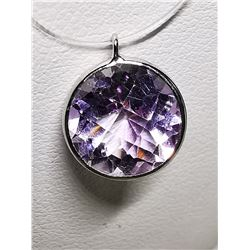 14K AMETHYST  ROSE DEFRANCE (3.2CT)  INVISIBLE NECKLACE  NECKLACE