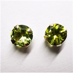 10K PERIDOT(0.5CT) EARRINGS