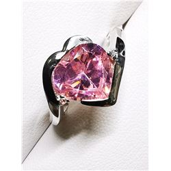 SILVER CZ(6CT) RING