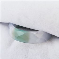 GREEN & WHITE AGATE RING
