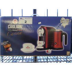 NEW CAGLIARI CARINA ESPRESSO MACHINE GIFT SET