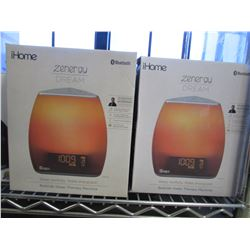 2 IHOME ZENERGY DREAM BLUETOOTH BEDTIME THERAPY MACHINES