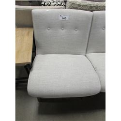 GREY WIDE SEAT CHAIR
