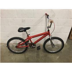 RED UNKNOWN MAKE BMX BIKE