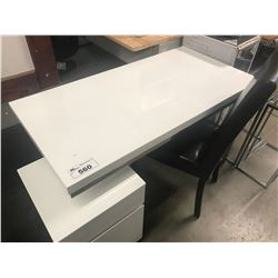 MODERN WHITE & CHROME OFFICE/COMPUTER DESK