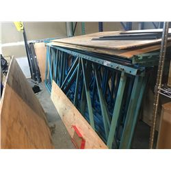 LARGE LOT OF INDUSTRIAL PALLET RACKING