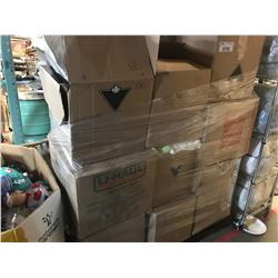 LARGE PALLET LOT OF HOME STAGE GLASSWARE, HOUSEHOLD DÉCOR , MISC ITEMS