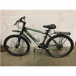 BLACK/GREEN TREK 3500 MOUNTAIN BIKE