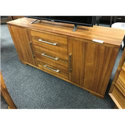 CHERRY 6' SOLID WOOD SIDE BOARD
