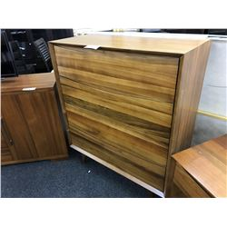 CHERRY SOLID WOOD 4 DRAWER CHEST