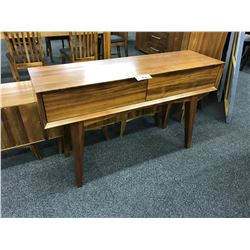 CHERRY 5' SOLID WOOD CONSOLE TABLE