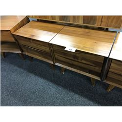 2 CHERRY SOLID WOOD 2 DRAWER NIGHT STANDS