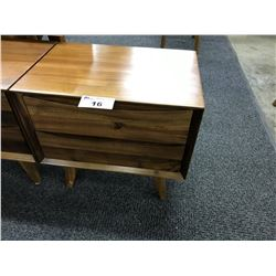 CHERRY SOLID WOOD 2 DRAWER NIGHT STAND WITH 1 CHERRY SOLID WOOD SINGLE DRAWER NIGHT STAND