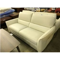 NATUZZI EDITIONS 3 SEAT LEATHER SOFA