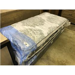 SERTA SINGLE EURO TOP MATTRESS AND BOX SPRING