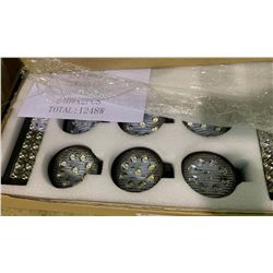 BOX OF ASSORTED LED VEHICLE / SERVICE LIGHTING 14 PCS TOTAL