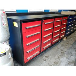 STEELMAN 7FT 20 DRAWER WORKBENCH - RED