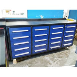STEELMAN 7FT 20 DRAWER WORKBENCH - BLUE
