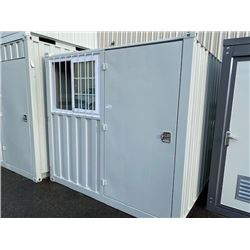 BRAND NEW 8' STORAGE CONTAINER MOBILE OFFICE 1 DOOR & 1 WINDOW