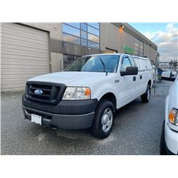 2008 FORD F150, PICKUP, WHITE, GAS, AUTOMATIC, VIN#1FTVF145X8C85869, 224,048KMS,