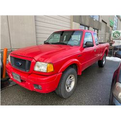 2004 FORD RANGER, RED, GAS, MANUAL, VIN#1FTYR44U94PB35794, 316,483KMS, RD,CD,AW, CHECK ENGINE LIGHT