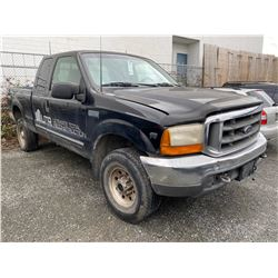 1999 FORD F-350 SUPERDUTY, PICKUP, BLACK (SOME DECALS) GAS, MANUAL, VIN#1FTSX31S9XEE02389,