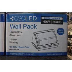 CSC 40W LED WALL PACK (MODEL CWP02-40W-50K)