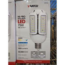 5 SATCO HI-PRO MULTI BEAM 75W LED LAMPS